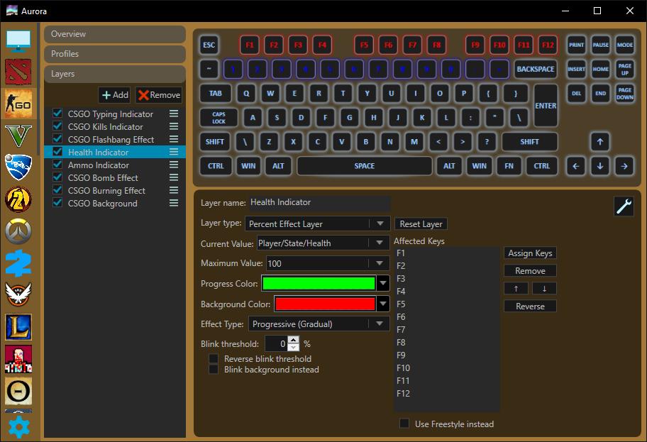 CS:GO game profile
